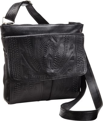 Ropin West Cross Over Bag Black - Ropin West Leather Handbags