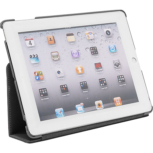 Wireless Accessories Unlimited Folio w/ Port Hole Design and Stand for iPad 2 & New iPad - Fabic Stitched GREY - Wireless Accessories Unlimited Laptop Sleeves