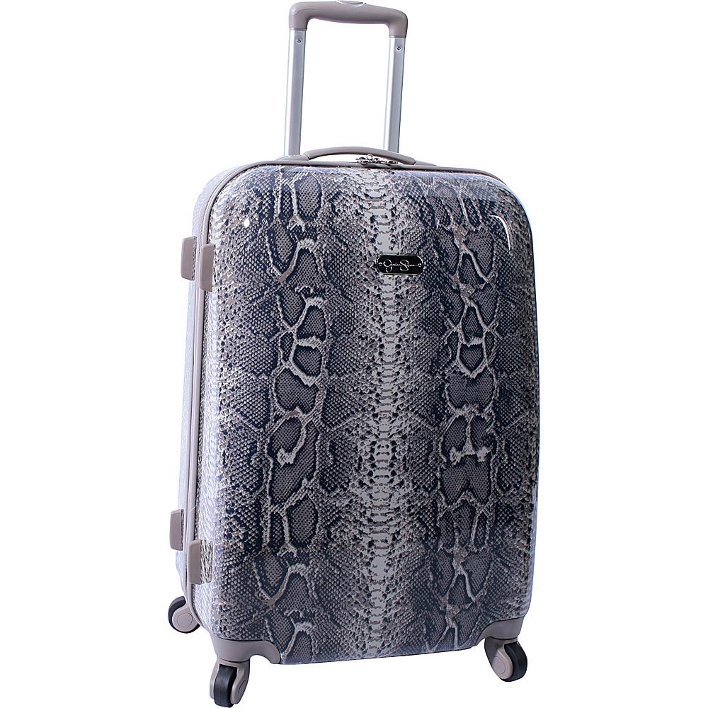 "Jessica Simpson Luggage Snake 24"" Twister Hardside Brown - Jessica Simpson Luggage Hardside Luggage"