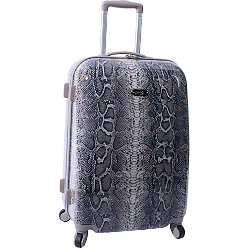 "Jessica Simpson Luggage Snake 24"" Twister Hardside Brown - Jessica Simpson Luggage Hardside Luggage"