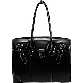 Leclaire Ladies 15.4'' Leather Laptop Tote Black