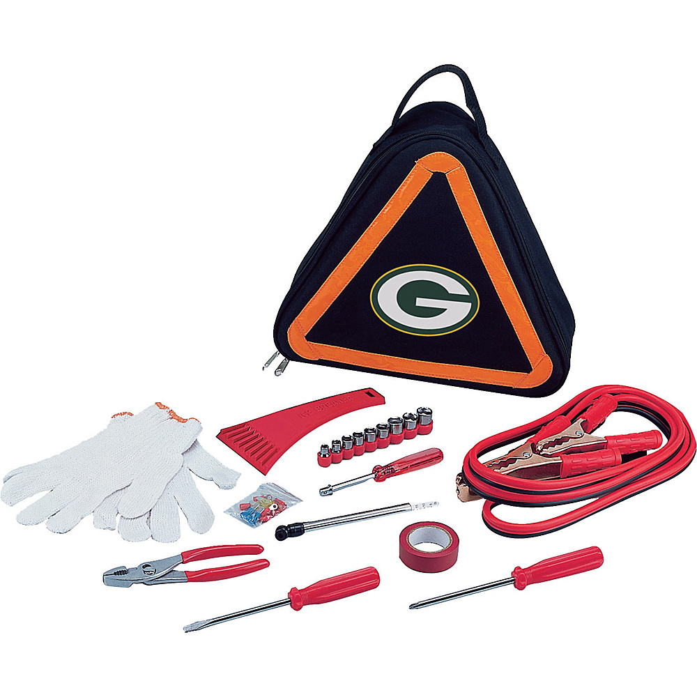 Picnic Time Green Bay Packers Roadside Emergency Kit Green Bay Packers - Picnic Time Trunk and Transport Organization - Travel Accessories, Trunk and Transport Organization