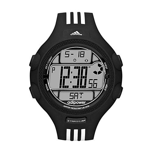 adidas originals Watches Adidas Performance Adipower TR Black with White Striped Band - adidas... (10218818 ADP3120-Black) photo