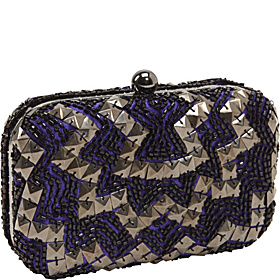 Evening Bags Beaded Minaudiere Purple