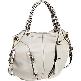 Gwen Woven Strap Shoulder Bag Bone