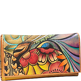 Check Book Wallet/Clutch Patchwork Garden