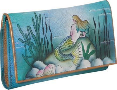 Anuschka Checkbook Wallet - Little Mermaid - Little