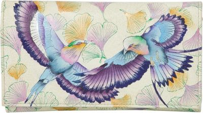 Image of Anuschka Check Book Wallet/Clutch Wings of Hope - Anuschka Women's Wallets