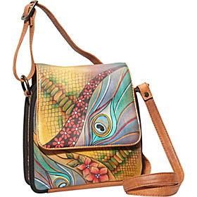 Triple Compartment Crossbody Organizer - Dancing Peacock Dancing Peacock