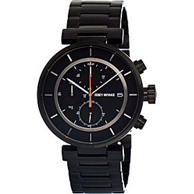 W Mens Watch Black Dial; Metal Black Band