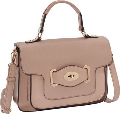 Melie Bianco Lena Top Handle Flap Bag