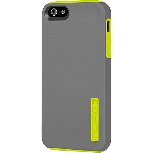 Incipio Dual PRO for iPhone 5 Charcoal Gray/ Citron Yellow - Incipio Personal Electronic Cases