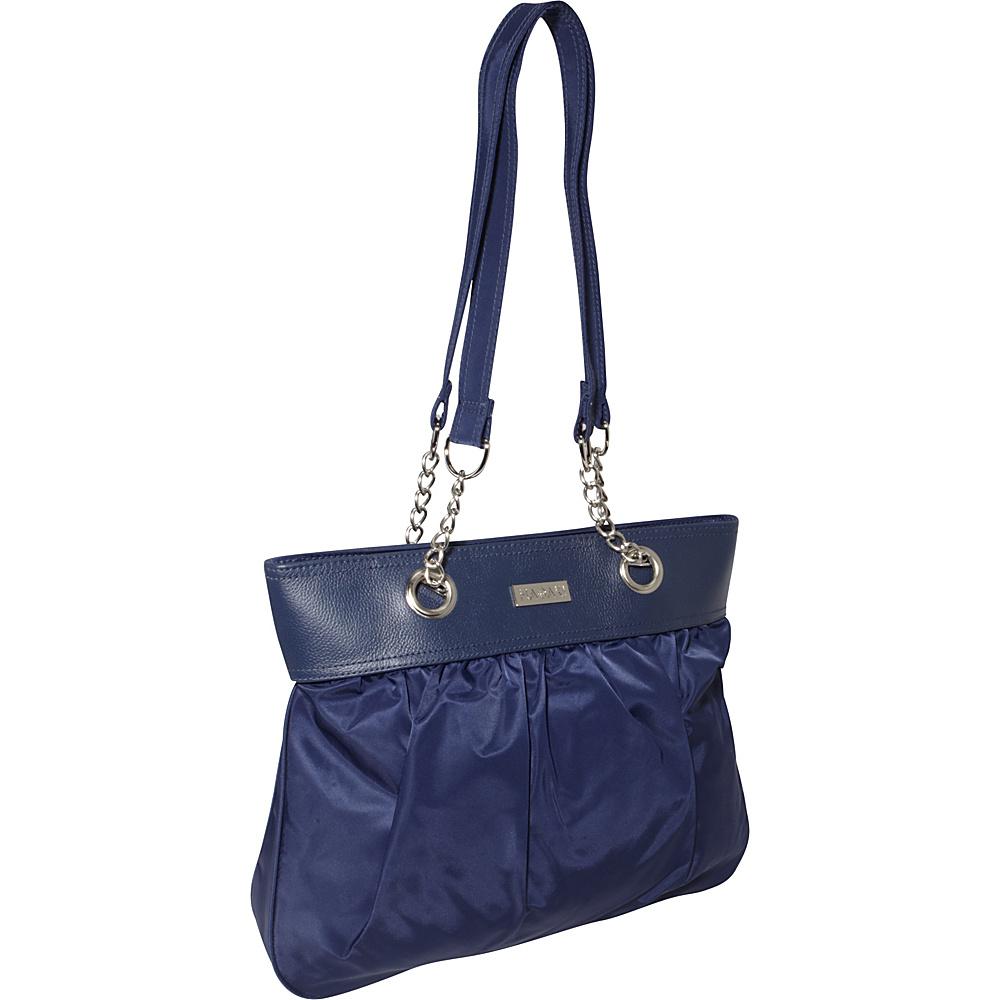 Hadaki Nylon Brickabrack Tote Pod Navy/Orange - Hadaki Fabric Handbags - Handbags, Fabric Handbags
