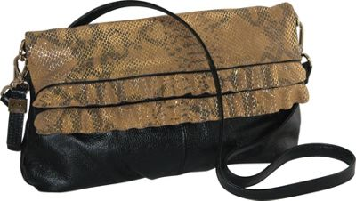 Buxton Alexandria Shoulder Black - Buxton Leather Handbags