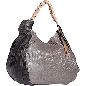 Fashion Pleat Large Hobo Bark Multi