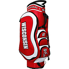 NCAA University of Winconsin Badgers Medalist Cart Bag Red