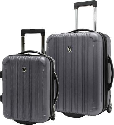 Traveler's Choice New Luxembourg 2pc Carry-On Hardside Luggage Set Pewter - Traveler's Choice Luggage Sets