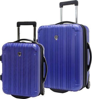 Traveler's Choice New Luxembourg 2pc Carry-On Hardside Luggage Set Royal Blue - Traveler's Choice Luggage Sets