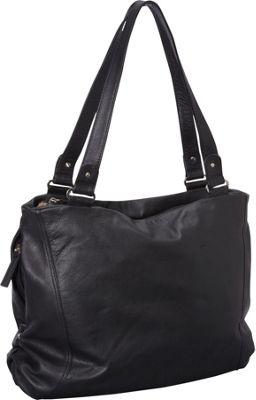 Derek Alexander Large Top Zip Tote Black - Derek Alexander Leather Handbags