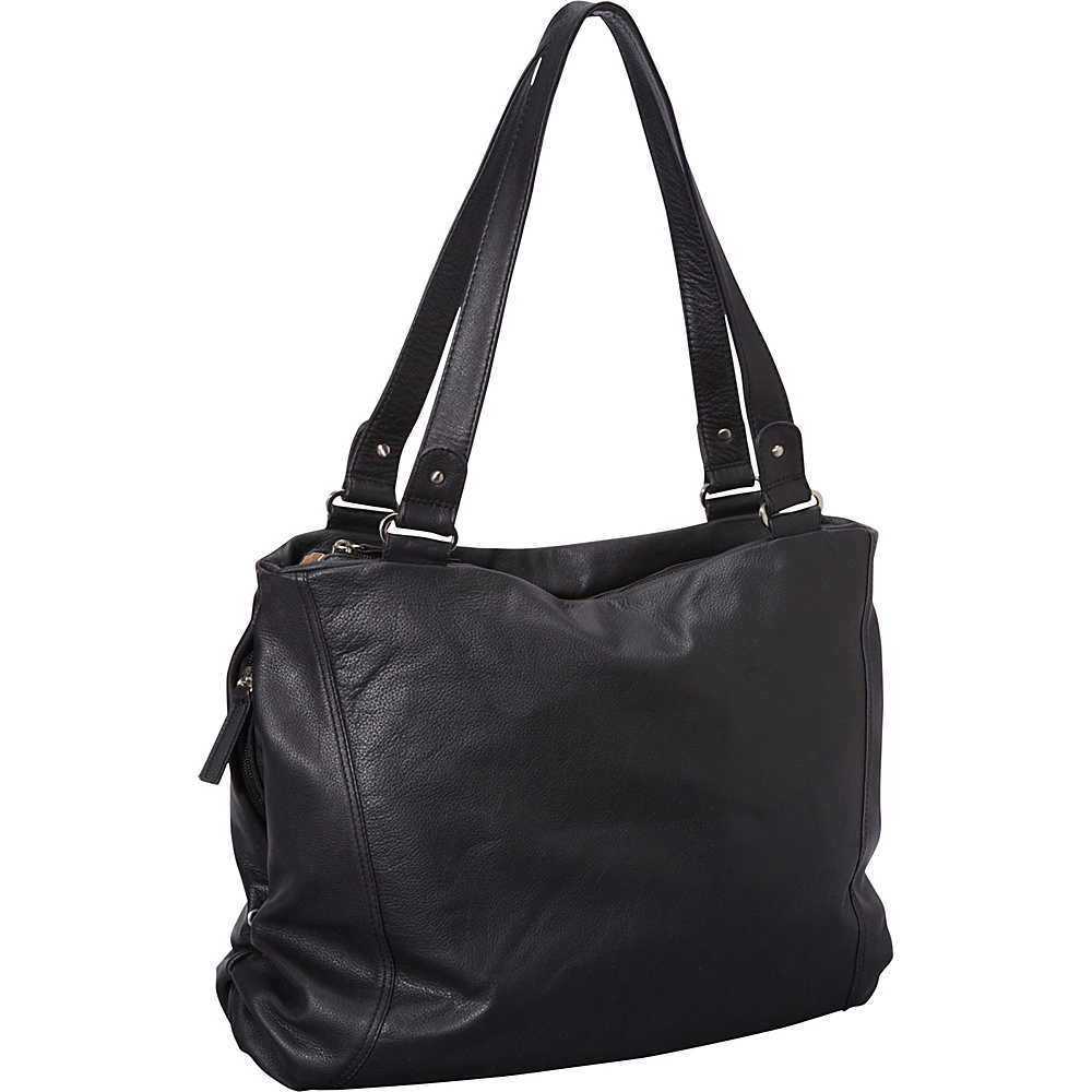 Derek Alexander Large Top Zip Tote Black - Derek Alexander Leather Handbags - Handbags, Leather Handbags