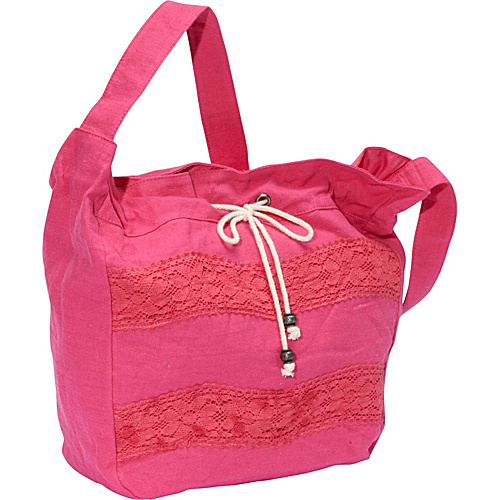 Roxy Hometown Girl Shoulder Bag Fuchsia - Roxy Fabric Handbags