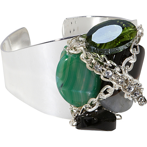 Tammy Spice Accessories Emerald Cuff Silver - Tammy Spice Accessories Jewelry
