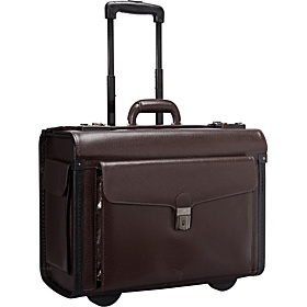 Deluxe Wheeled Catalog Case Burgundy