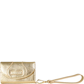Tri-Fold Wristlet Wallet for iPhone Gold