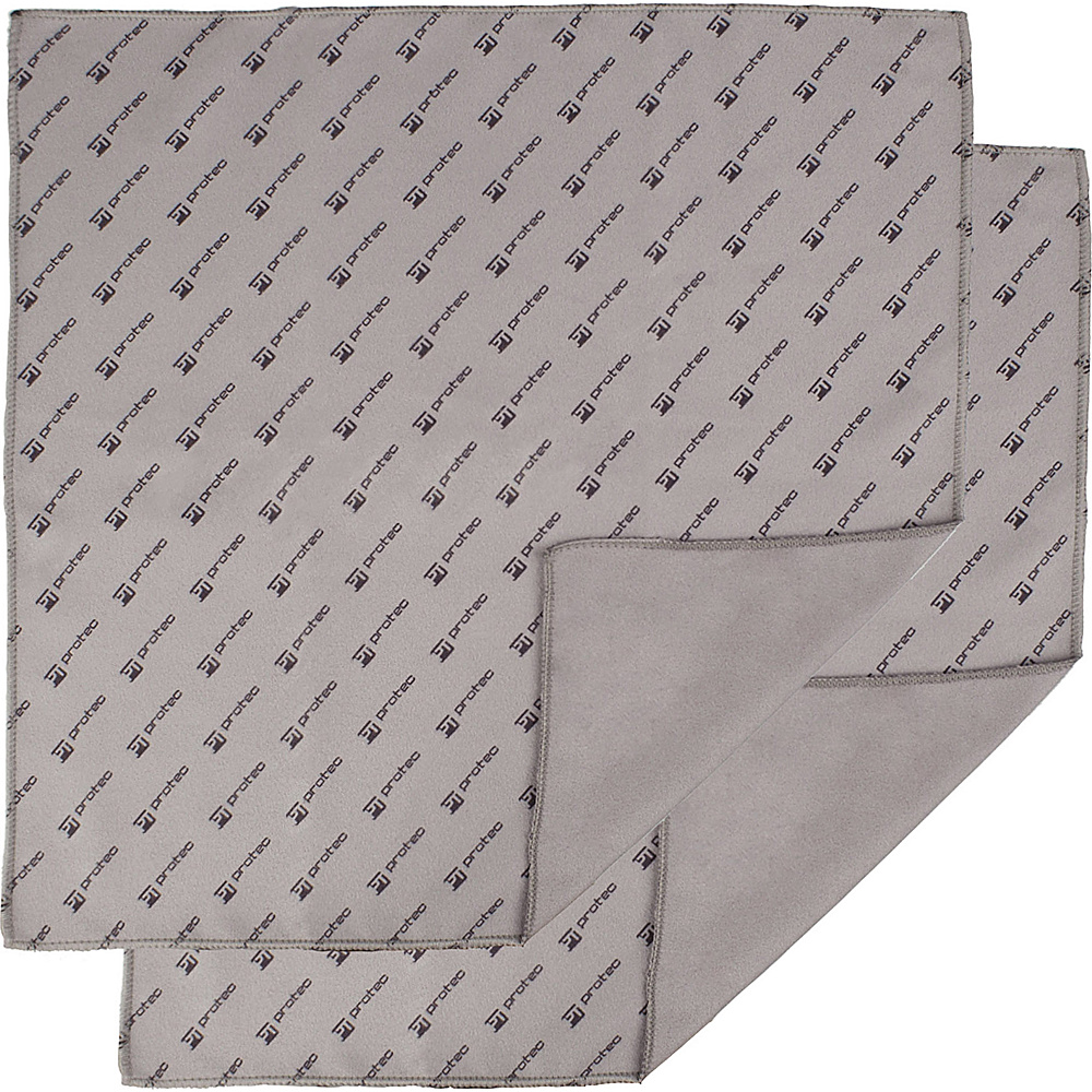 "Protec 12x12"" Microfiber Cloth (2 Pack) Grey - Protec Laptop Sleeves"