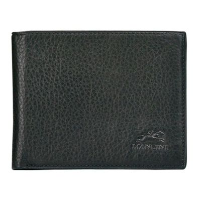 Mancini Leather Goods San Diego Collection: Mens Center Wing Wallet Black - Mancini Leather Goods Men's Wallets