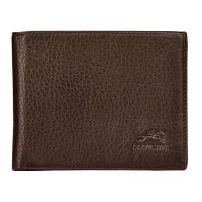 Mancini Leather Goods San Diego Collection: Mens Center Wing Wallet Brown - Mancini Leather Goods Men's Wallets