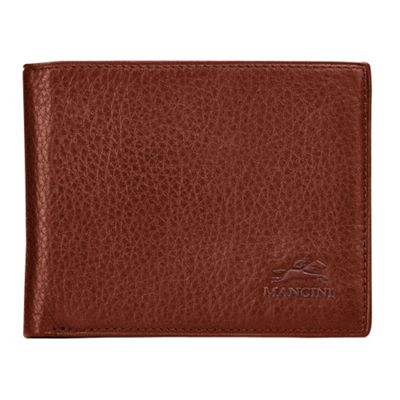 Mancini Leather Goods San Diego Collection: Mens Center Wing Wallet Cognac - Mancini Leather Goods Men's Wallets