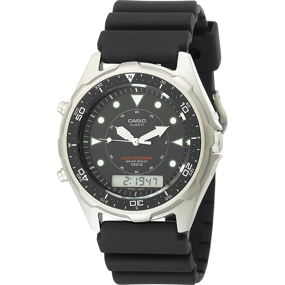 Casio Men's Marine Analog-Digital Dive Watch Black - Casio Watches