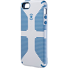 iPhone 5 Candyshell Grip Case White/Harbor Blue