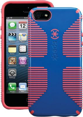 Speck iPhone SE/5 Candyshell Grip Case Harbor Blue/Coral Pink) - Speck Electronic Cases