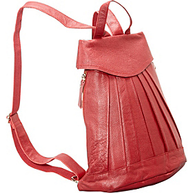 Pleated Mini-Backpack  Red
