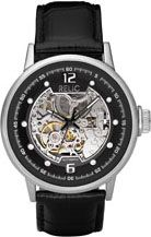Relic Men's  inchAutomatic inch Black Leather Strap Watch Black Croco - Relic Watches