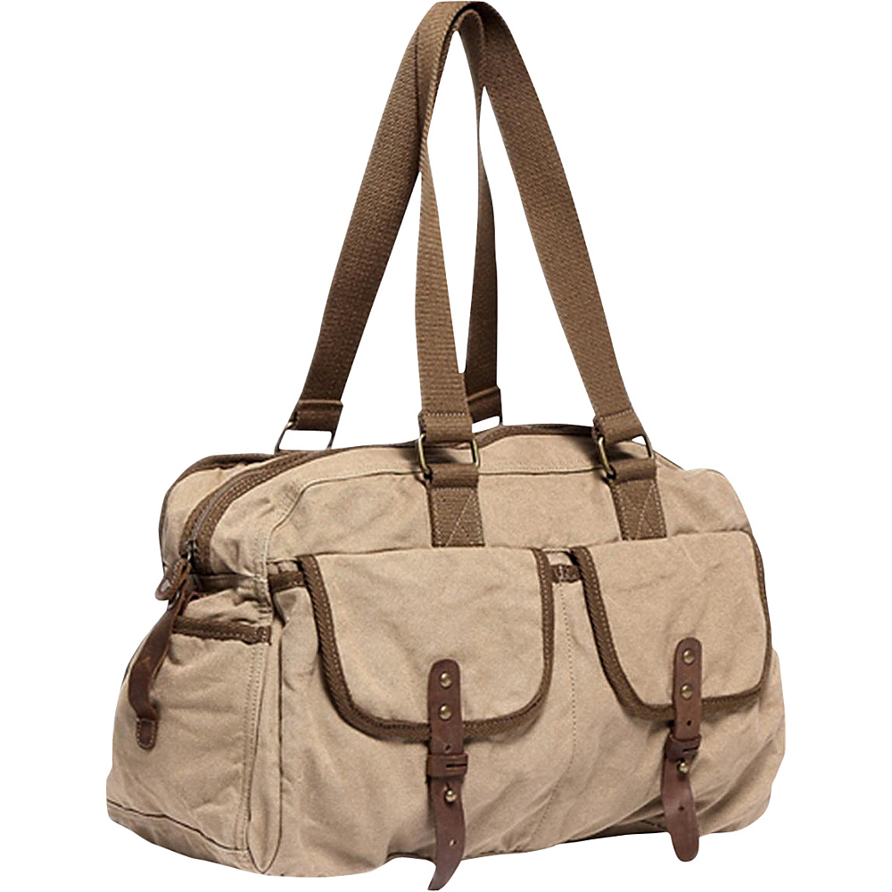 Vagabond Traveler Medium Travel Canvas Bag Khaki - Vagabond Traveler Travel Duffels - Duffels, Travel Duffels