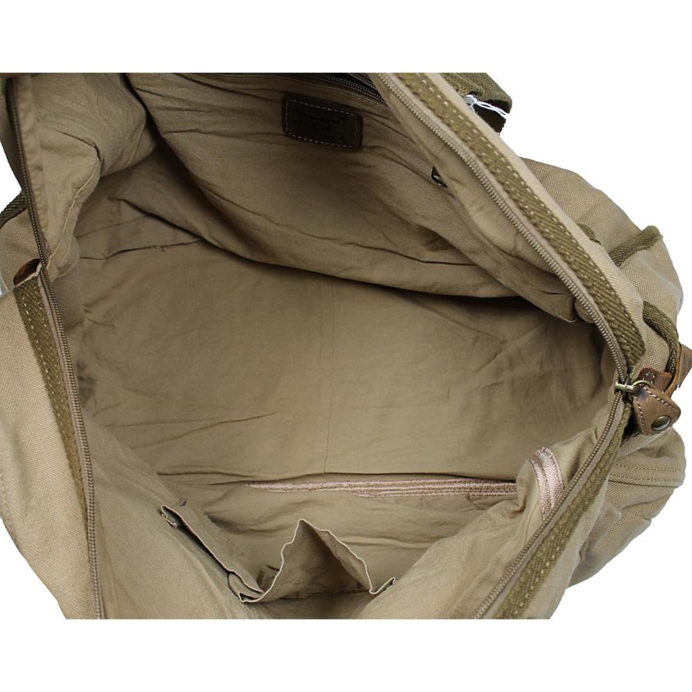 Vagabond Traveler Medium Travel Canvas Bag Military Green - Vagabond Traveler Travel Duffels