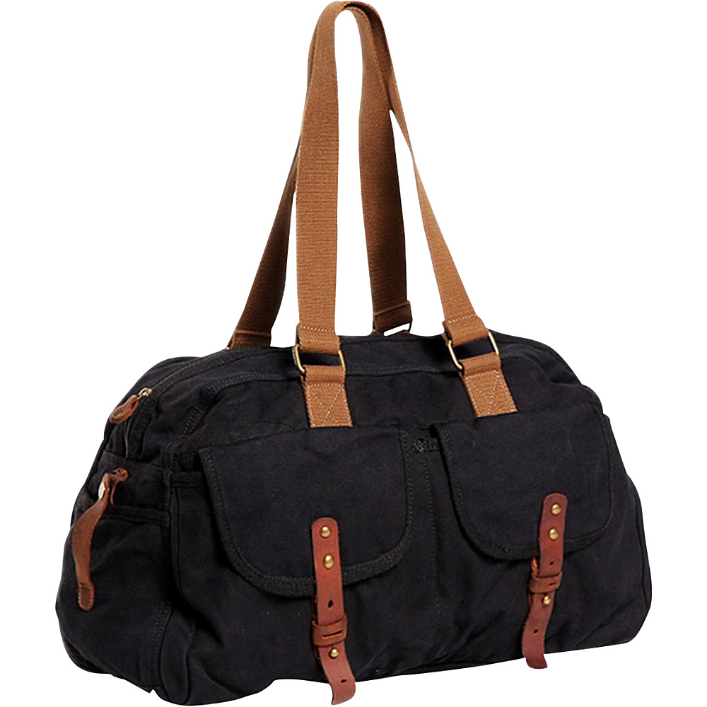 Vagabond Traveler Medium Travel Canvas Bag Black - Vagabond Traveler Travel Duffels - Duffels, Travel Duffels