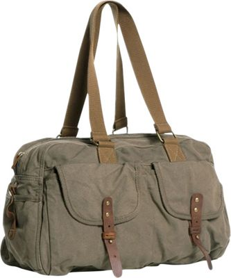 Vagabond Traveler Medium Travel Canvas Bag Military Green - Vagabond Traveler Travel Duffels
