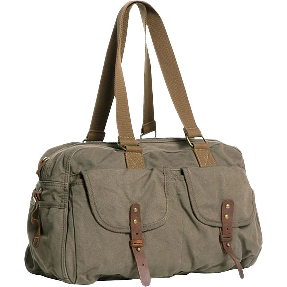 Vagabond Traveler Medium Travel Canvas Bag Military Green - Vagabond Traveler Travel Duffels - Duffels, Travel Duffels