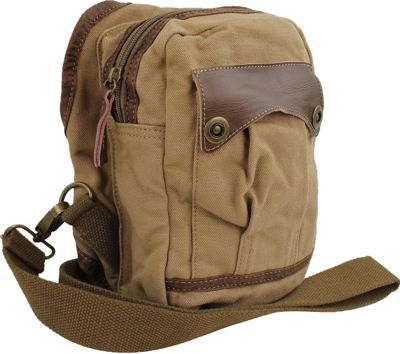 Vagabond Traveler Small Canvas Satchel Shoulder Bag Khaki - Vagabond Traveler Other Men's Bags