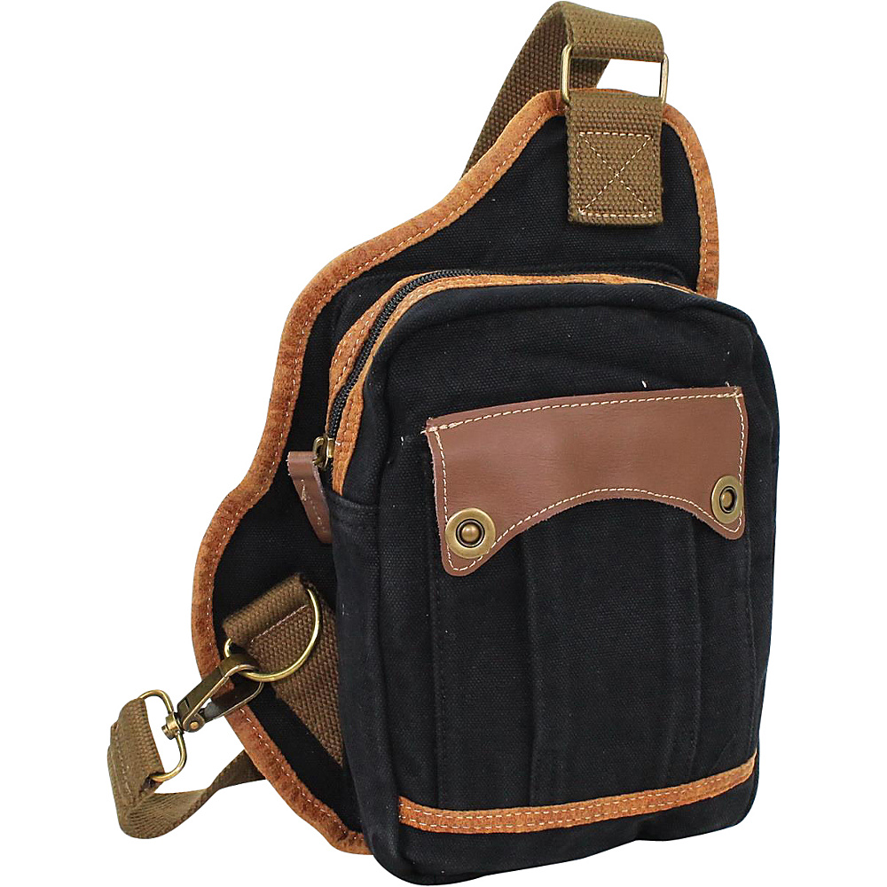 Vagabond Traveler Small Canvas Satchel Shoulder Bag Black Vagabond Traveler Other Men s Bags