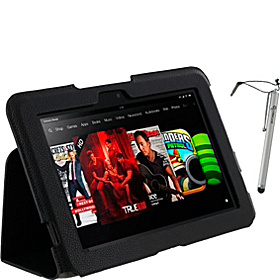 "Ultra-Slim Case w/ Stylus for Kindle Fire HD 8.9"" Black"