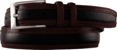 Johnston & Murphy Deerskin Belt Black/Dark Mahagony - Size 34 - Johnston & Murphy Other Fashion Accessories