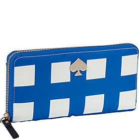 Berry Street Lacey Zip Around Wallet Royal Blue/Cream