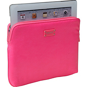 Bright Lights iPad Sleeve Hot Magenta