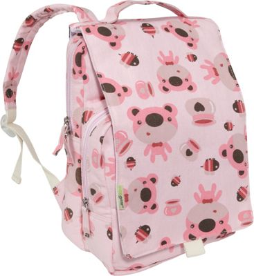 ecogear Dually Backpack Pink Bear - ecogear Everyday Backpacks