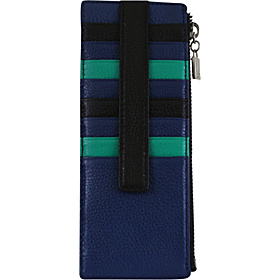 Melrose Credit Card Case with Zipper Pocket Clover
